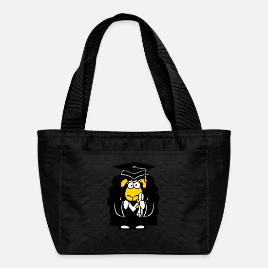Wool Bags & Backpacks - college graduation high school school finished sch - Lunch Bag black