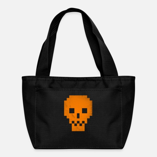 Yes We Can Bags & Backpacks - Dead Pixels Orange T shirt Cool Halloween GIft - Lunch Bag black