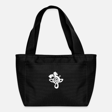 Medieval Celtic Symbols Dragon White Gift Idea - Lunch Box
