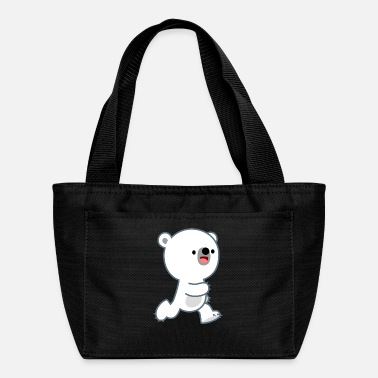 Cute Perky Polar Bear Cub by Cheerful Madness!! - Lunch Bag
