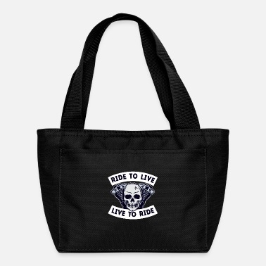Vehicle Rider Statement Skull Motorcyclist Motorbike Biker - Lunch Bag
