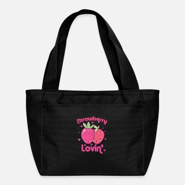 Shake Cute fruit strawberry lovers matching gift idea - Lunch Bag