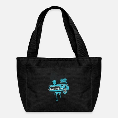 Fastandfurious vintage car design - for t shirt - Lunch Bag
