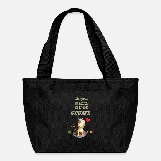 Love Bags & Backpacks - single squirrel 3c - Lunch Bag black