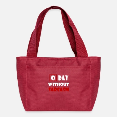 Movie Music Humour Zero Days Without Sarcasm T Shirt - Lunch Bag
