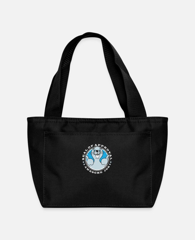 Movie Lunch Boxes - Seal of Approval - Lunch Bag black