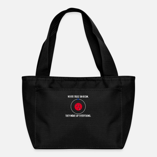 Birthday Bags & Backpacks - Never Trust an Atom - Lunch Box black