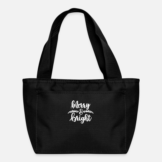 Birthday Bags & Backpacks - Merry and Bright - Lunch Bag black
