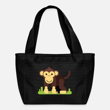monkey ape child kids funny comic animal - Lunch Bag