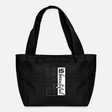 Black Light Black is Beautiful by ART8NS Art ON Streetwear - Lunch Bag