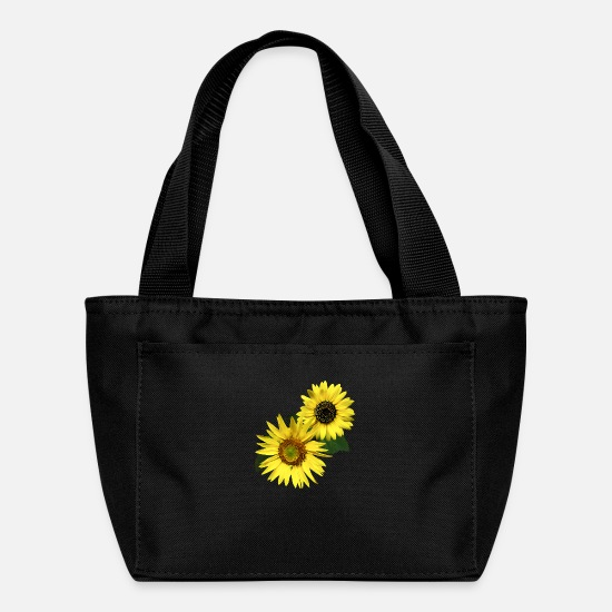 Floral Bags & Backpacks - Two Sunflowers, The Same Yet Different - Lunch Box black