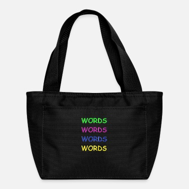 Word Words Words Words - Lunch Bag
