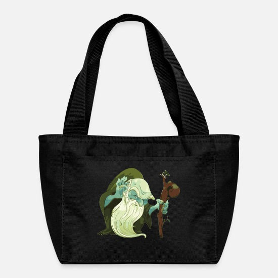 Sorcerer Bags & Backpacks - sorcerer-forest-wizard-cool-fantastic-wood goblin - Lunch Bag black