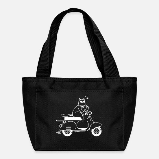 Cat Bags & Backpacks - Cat on Motor Scooter - Lunch Box black