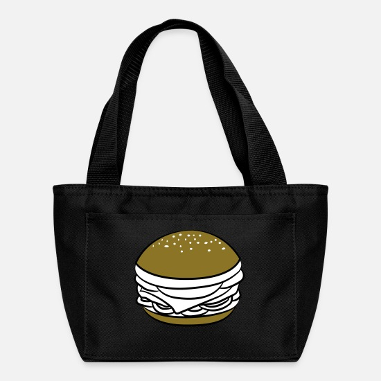Bbq Bags & Backpacks - Fast Food Hamburger Hunger Design - Lunch Bag black