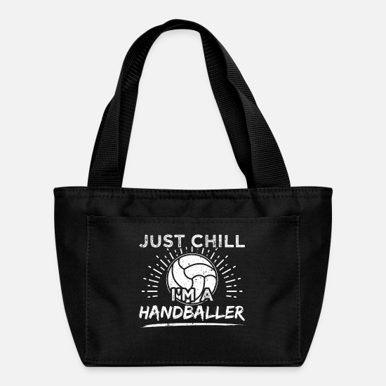 Handball Bags & Backpacks - Funny Handball Handballer Shirt Just Chill - Lunch Box black