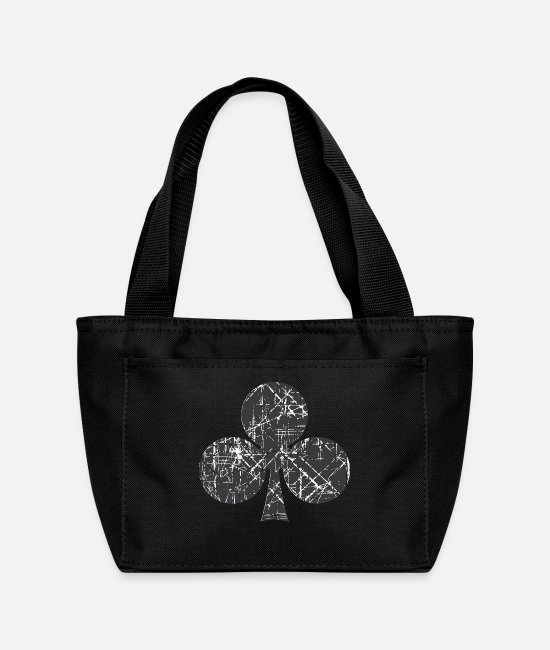 Poker Bags & Backpacks - Clubs Cards - Lunch Bag black