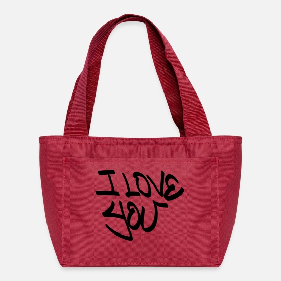 You Bags & Backpacks - I Love You - Lunch Box red