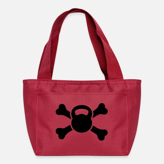 Training Bags & Backpacks - kettlebell & bones - Lunch Bag red
