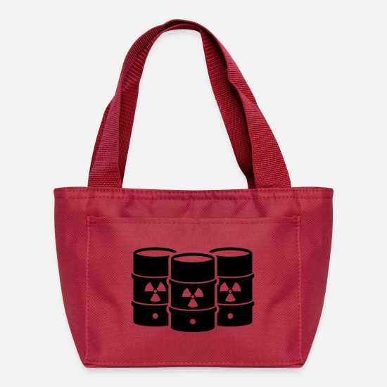 Enviromental Bags & Backpacks - Nuclear waste - say no! - Lunch Bag red