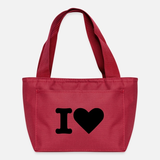 Love Bags & Backpacks - I Love - Lunch Bag red