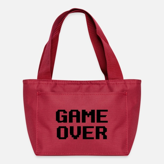Over Bags & Backpacks - Game Over - Lunch Box red