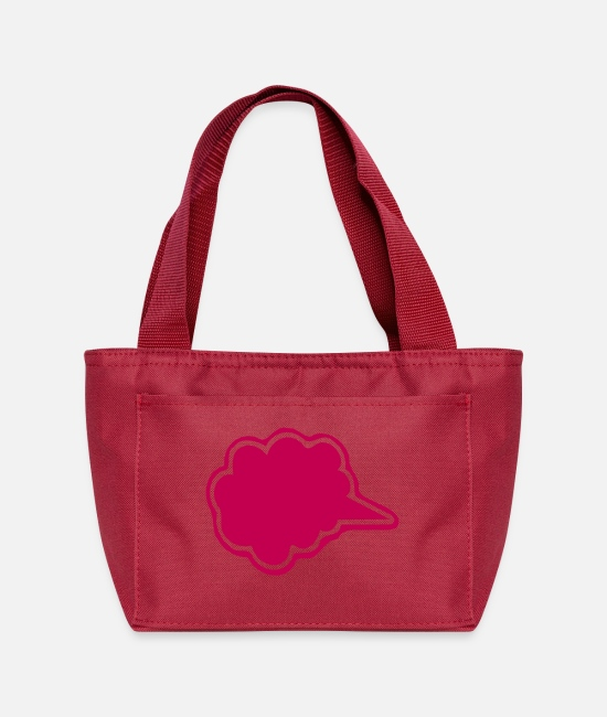 Candy Bags & Backpacks - ۞»♥Vector Fluffy Cloud Shape Speech Bubble♥«۞ - Lunch Bag red