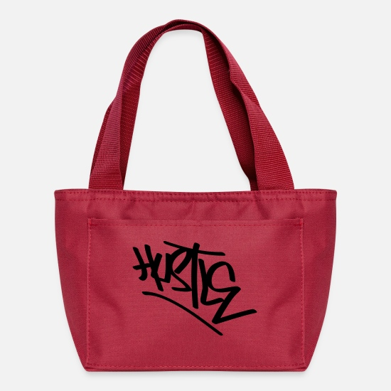 Graffiti Bags & Backpacks - hustle inv tag - Lunch Bag red