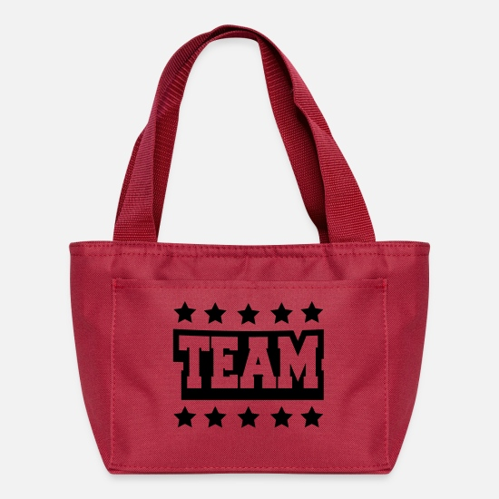 Stamp Bags & Backpacks - Team Stamp - Lunch Bag red
