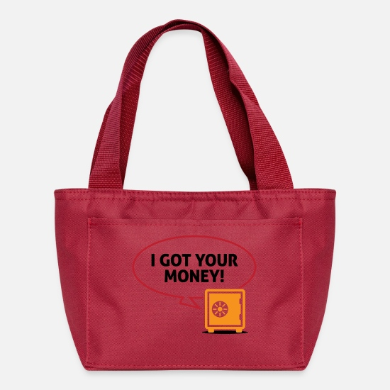 Wealth Bags & Backpacks - I Got Your Money! - Lunch Box red