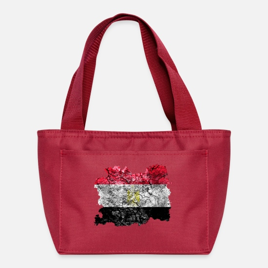 Egypt Bags & Backpacks - Egypt Vintage Flag - Lunch Bag red