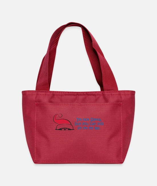 Seduction Bags & Backpacks - I'm Not Santa,But You Can Still Sit On My Lap. - Lunch Bag red
