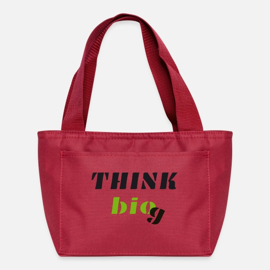 Think Bags & Backpacks - Think bio black - Lunch Box red