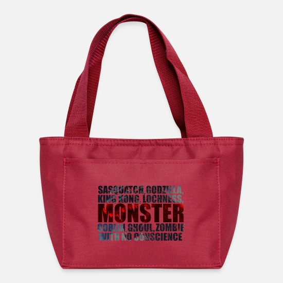 Lochness Bags & Backpacks - Monster - Lunch Box red