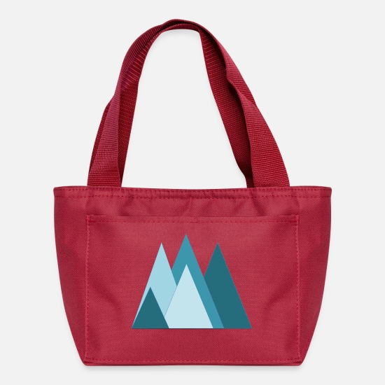 Outdoors Bags & Backpacks - mountain triangles - Lunch Box red