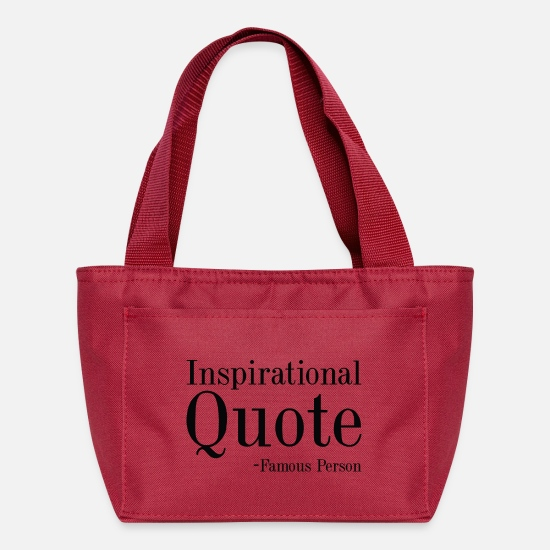 Quote Bags & Backpacks - Inspirational Quote - Lunch Box red