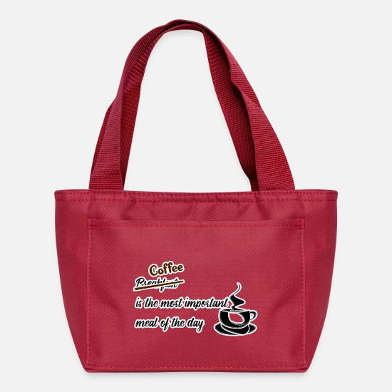 Important Bags & Backpacks - Coffee Most Important Meal - Lunch Box red