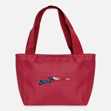 Bolt-action Rifles Patriotic Hunting Rifle with USA Flag Overlay - Lunch Bag