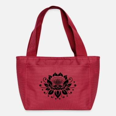 Large lotus flower in tattoo style. - Lunch Box