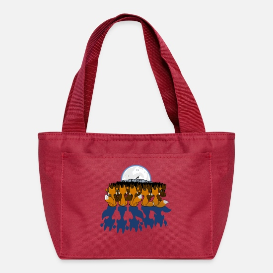 Geek Bags & Backpacks - Fantastic Mr Wolf - Lunch Bag red