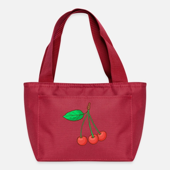 Cherry Bags & Backpacks - Sour Cherries Cherry - Lunch Box red