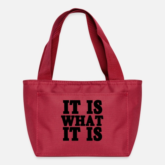 What Bags & Backpacks - It Is What It Is - Lunch Bag red