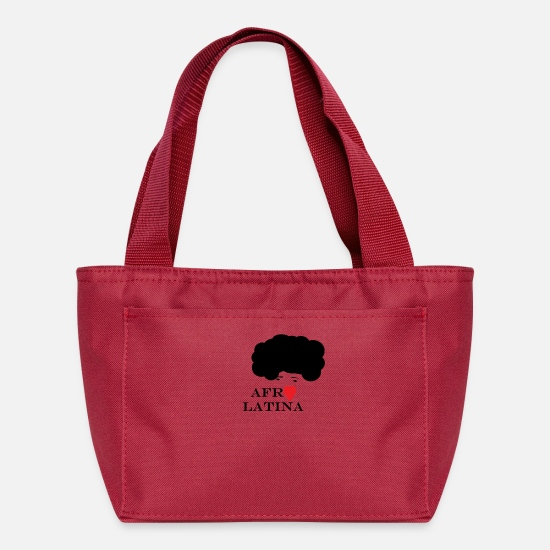 Hair Bags & Backpacks - Afro Latina - Lunch Bag red