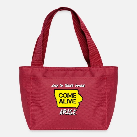 Iowa Bags & Backpacks - Come Alive Iowa - Lunch Box red
