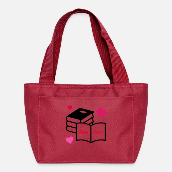 Book Bags & Backpacks - Book Lover - Lunch Bag red