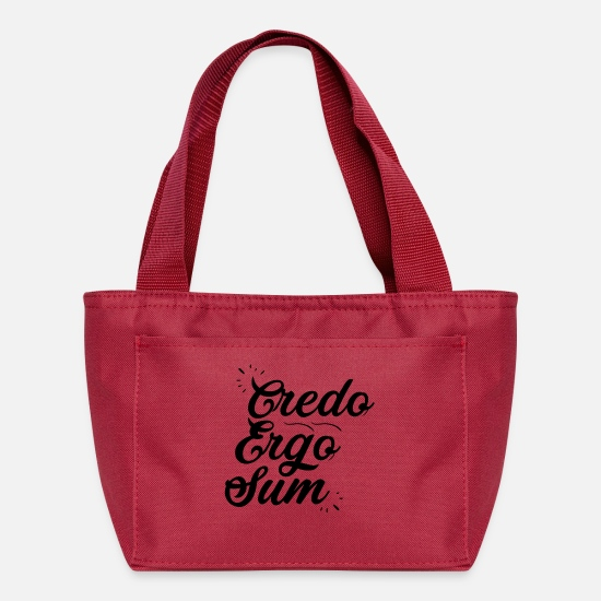 College Bags & Backpacks - Credo Ergo Sum - Black - Lunch Bag red