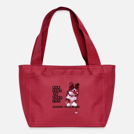 Dog Owner Bags & Backpacks - run a dog - Lunch Box red