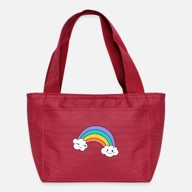 Cloudy unicorn rainbow cloud - Lunch Box