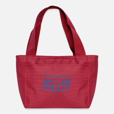 Airport Trust me i'm a pilot gift airplane copilot - Lunch Bag
