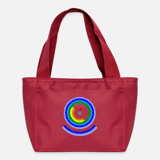 Big Bang Bags & Backpacks - The Periodic Table of the Chemical Elements - Lunch Bag red